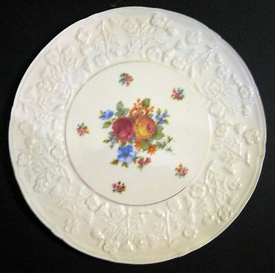 """Embossed With Flowers Erphila 11"""" Cake Plate"""