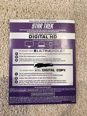 Star Trek Digital HD 4k iTunes Digital Copy