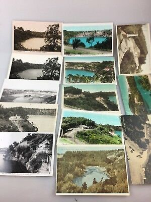 Vintage - 13 Postcards - Black & White & Colour - Mount Gambier, South Australia