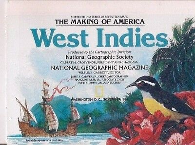 national geographic map-NOV 1987-WEST INDIES.