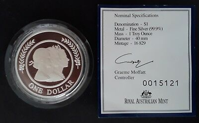 1999 Australia Majestic Images Proof 1 0z  Silver (.999) $1 Coin