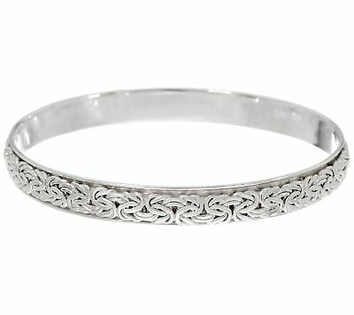 QVC Sterling Silver Byzantine Spinner Slip-on Bangle by Silver Style