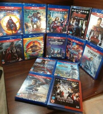 14 Marvel Movie Collection(3D+Blu-ray)NEW(Sealed)-Free Box Shipping with Trackin