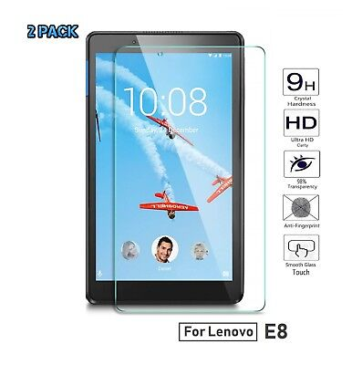 2 x Premium Tempered Glass Screen Protector for Lenovo TAB E8 8 Inch Tablet