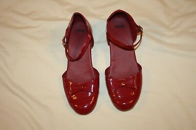 Gymboree Patent Red Christmas Shoes, Girls Youth Size 4