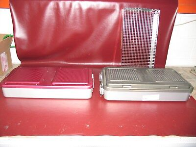 V Mueller Genesis Aesculap Germany Full Length Sterilization Containers Lot Of 2