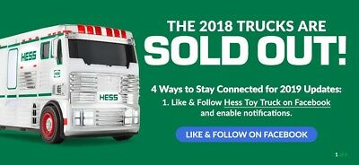 HESS 2018 Toy Truck SOLD OUT w ATV Motorbike In Hand Ready to Ship BRAND NEW!!!!
