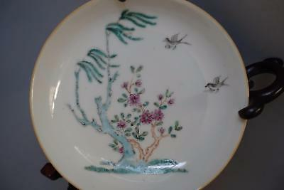 Fine Chinese Antique Porcelain Famille Rose Saucer Plate Yongzheng