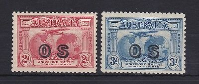 APD249) Australia 1931 Kingsford Smith 2d & 3d Ovpt. OS, fresh Mint Unhinged