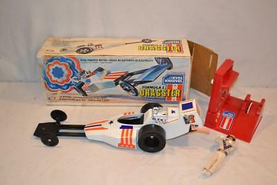 Vintage 1975 Ideal Evel Knievel Formula 1 Dragster w Box