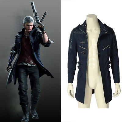 Devil May Cry 5 DMC5 NERO Cosplay Costume Only Jacket Halloween Men Outfit Coat