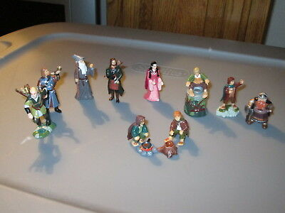 Rare Lord of the Rings LOTR 10 Colorful Figures Figurines