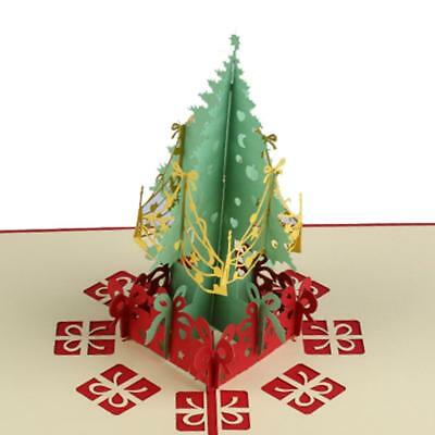 3D Pop Up Handmade Creative Christmas Tree Greeting Card New Year Xmas Gifts