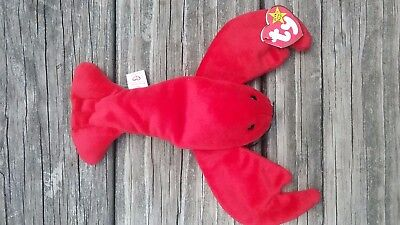 TY Beanie Baby Babies PINCHERS Lobster New w/tag -  Retired 1993