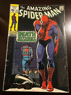 The Amazing Spiderman #75 (August 1969, Marvel) VG Stan Lee Silver Age