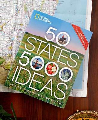 50 States 5000 Ideas Book USA Landmarks City Travel Country Color Photo Vacation