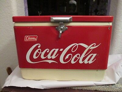 Coleman Coca Cola Cooler Ice Chest Original Red  1950s Bottle Opener Sides