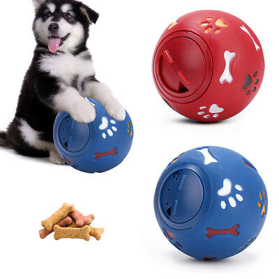 Dog Pet Puzzle Toy Fun Tough-Treat Ball Mental Food Dispenser Interactive Play