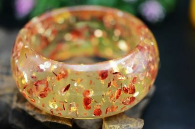 Delicate Chinese Rose Amber Hand Made Widening Bracelets
