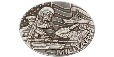 MILITARY BUCKLE NICKEL FREE Antique Silver (1770-55) [WBL]