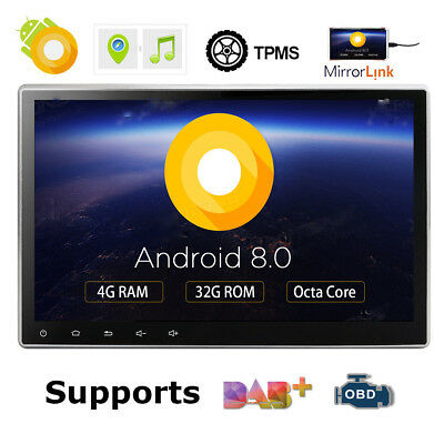 "Octa-Core Android 8.0 4GB RAM 10.1"" Double 2DIN Car GPS Navigation Stereo Radio~"