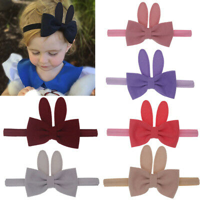 Cute Baby Girl Rabbit Ear Elastic Hair Head Hairband Phtography Props Headband L