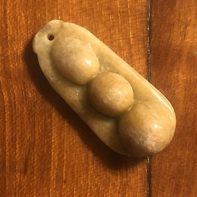 Old Chinese Pendant Jade Or Stone Carving Orange Amulet Charm Antique Vintage