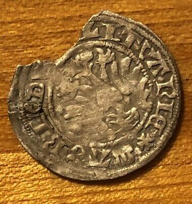 Rare Medieval Silver Coin Token European Medal Artifact Antique Currency Ancient