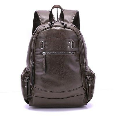 f00c842fc6ad Leather Backpacks For Men Bags Shoulder Fashion Male Casual Vintage School  Solid