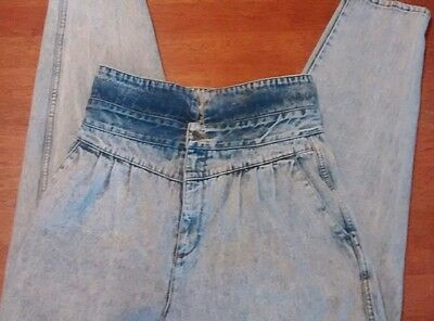 Vintage 80s acid washed mom jeans COUNTY SEAT nuovo industriale juniors size 16