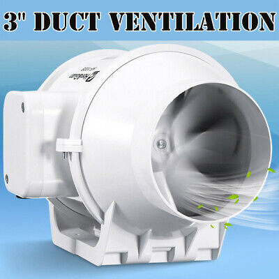 """3"""" inch Inline Duct Booster Fan Ventilation Exhaust Air Blower"""