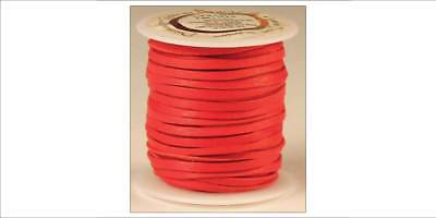 DEERSKIN LACE 3/16in x 36ft - Red (5068-08) [WBL]