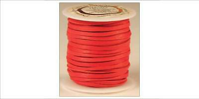 DEERSKIN LACE 1/8in x 50ft - Red (5067-08) [WBL]