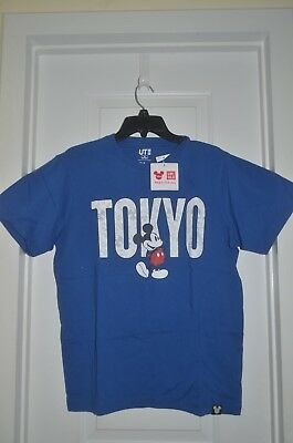 DISNEY CITY MICKEY MOUSE collection Tokyo Uniqlo tshirt MEDIUM OR LARGE nwt