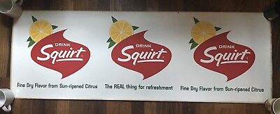 Rare 1950s Drink Squirt Decal Fasson Products FasCal 47.5x16.5