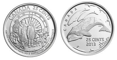 Canada 2013 25-Cent Arctic Expedition 100th Anniv & Life in North Quarter Coins