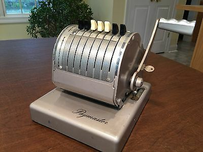 Vintage PAYMASTER X-550 Check Writer Printer in Clean Working Condition w/ Key