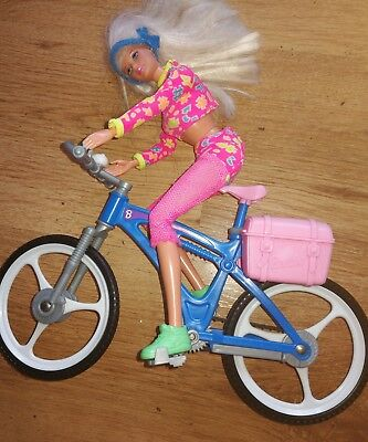 Vintage Barbie 1993  Doll +1998 Mountain Bike +Outfits+ Accessories