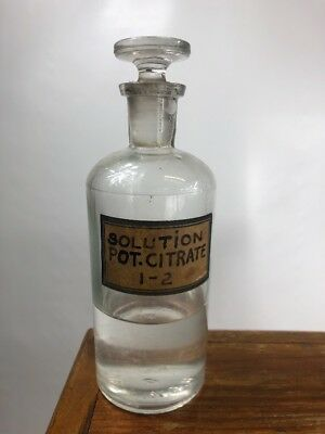 ANTIQUE 1800s W.T.CO. GLASS APOTHECARY (Pharmacy) BOTTLE #3