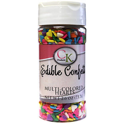 Hearts Edible Confetti sprinkles for Cupcakes, Cookies, Chocolates & Candy