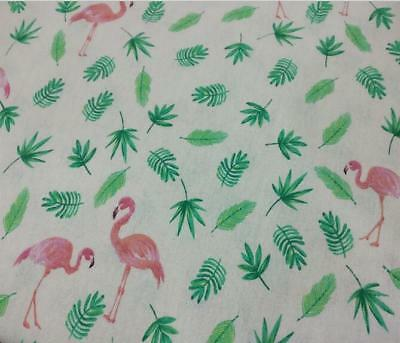 NEW Flamingo Pattern Cloth Cotton Linen Fabric Sewing Pillow/curtain/table cloth