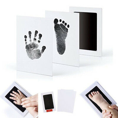 Inkless Baby Foot And Hand Ink Pad - Newborn Baby Handprint Footprint Pad Safe