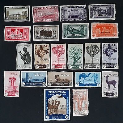 RARE 1920s-30s Tripolitania (Italian) lot of 21 postage stamps Mint