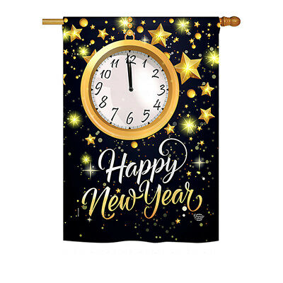 New Year Countdown - Impressions Decorative House Flag - H192142-P3
