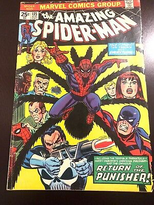 The Amazing Spider-Man #135 (Aug 1974, Marvel) Fine Stan Lee Bronze Age Punisher