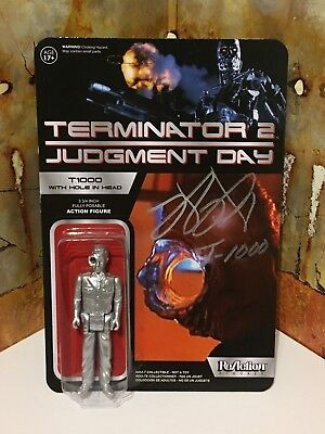 Super7 Funko ReAction T2 Judgement Day T1000 Figure Signed By Robert Patrick