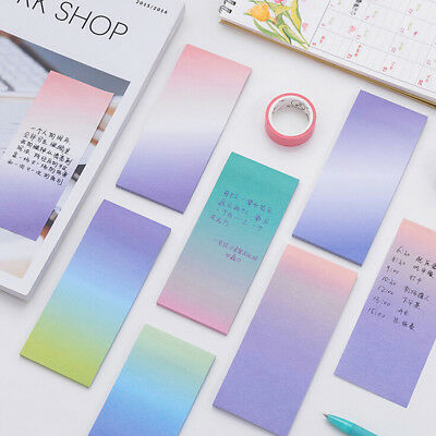 BD_Rainbow Memo Pads Decoration Stickers Self-Adhesive Stationery Sticky Note