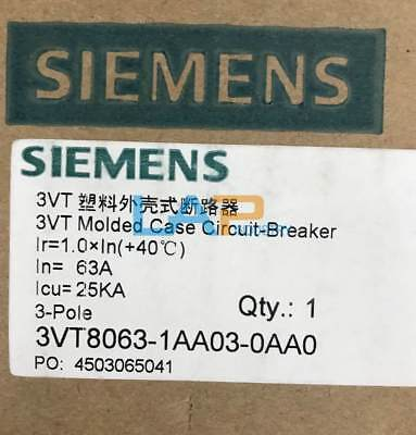 1PC NEW FOR SIEMENS 3VT8063-1AA03-0AA0 3P 63A Circuit Breaker