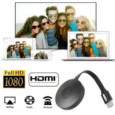 Pour Google Chromecast 2 WiFi HDMI Écran Miroir YouTube Netflix Dongle Miracast