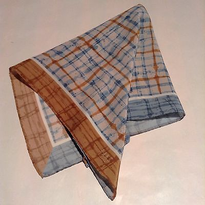 Daks Pure Silk Pocket Square/handkerchief Hand Rolled Edge